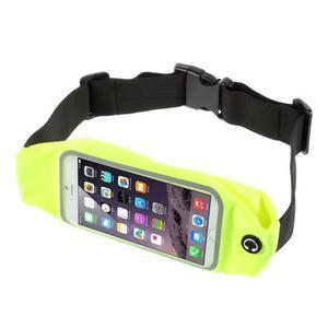 Športové kapsička pres pas na mobily do rozmerov 149 x 75 mm - zelené - 1