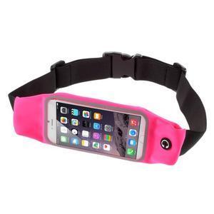 Sportovní kapsička přes pas na mobily do rozměrů 149 x 75 mm - rose - 1