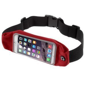Športové kapsička pres pas na mobily do rozmerov 149 x 75 mm - červené - 1