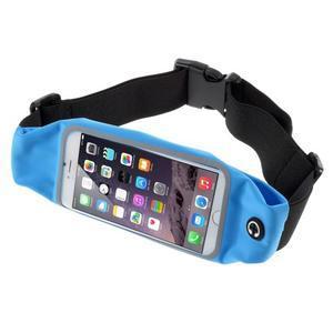 Sportovní kapsička přes pas na mobily do rozměrů 149 x 75 mm - modré - 1