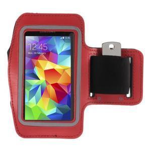 Run bežecké puzdro na mobil do veľkosti 131 x 65 mm - červené - 1