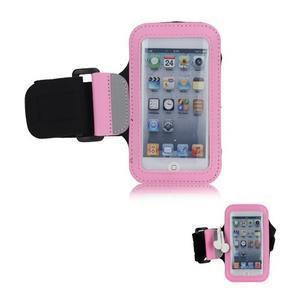JogyFit športové puzdro na telefón do veľkosti 115 x 60 mm - ružové - 1