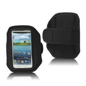 Fitness športové puzdro na mobil (140 x 75 mm) - čierne - 1