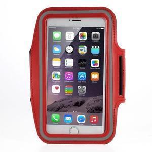 Soft puzdro na mobil vhodné pre telefóny do 160 x 85 mm - červené - 1