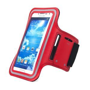 Červený športový obal na mobil do veľkosti 145 x 75 mm - 1