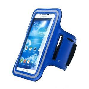 Modrý športový obal na mobil do veľkosti 145 x 75 mm - 1