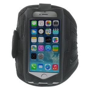 Absorb športové puzdro na telefón do veľkosti 125 x 60 mm - čierne - 1