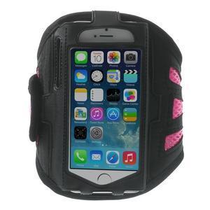Absorb športové puzdro na telefón do veľkosti 125 x 60 mm - ružové - 1