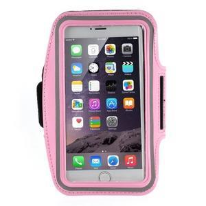 Soft puzdro na mobil vhodné pre telefóny do 160 x 85 mm - ružové - 1