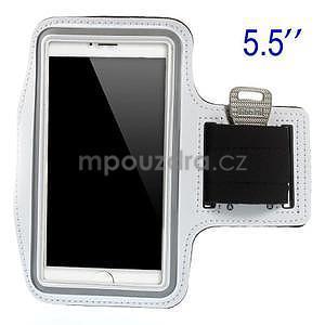 Bežecké puzdro na ruku pre mobil do veľkosti 152 x 80 mm - biele - 1
