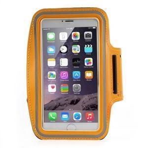Soft puzdro na mobil vhodné pre telefóny do 160 x 85 mm - žlté - 1