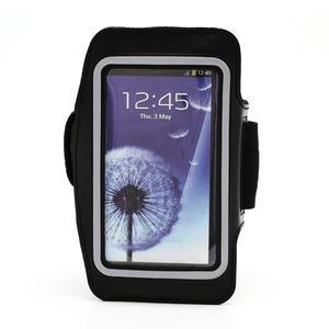 Športové puzdro na ruku až do veľkosti mobilu 140 x 70 mm - čierne - 1