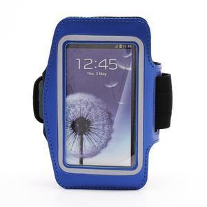 Športové puzdro na ruku až do veľkosti mobilu 140 x 70 mm - modré - 1