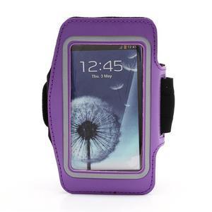 Športové puzdro na ruku až do veľkosti mobilu 140 x 70 mm - fialové - 1
