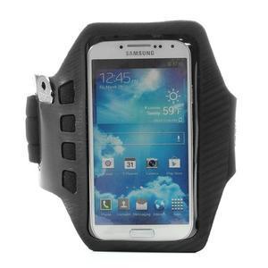 Sports Gym puzdro na ruku pre veľkosť mobilu až 140 x 70 mm - čierne - 1