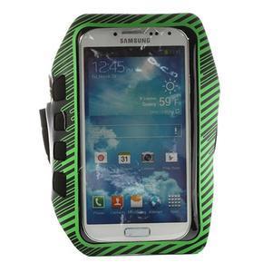 Sports Gym puzdro na ruku pre veľkosť mobilu až 140 x 70 mm -  zelené - 1