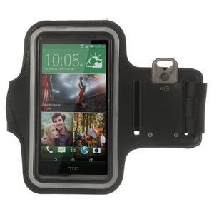 Čierne Sports Gym puzdro na ruku pre veľkosť mobilu až 150 x 70 mm - 1
