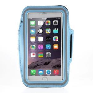 Soft puzdro na mobil vhodné pre telefóny do 160 x 85 mm - svetlomodré - 1