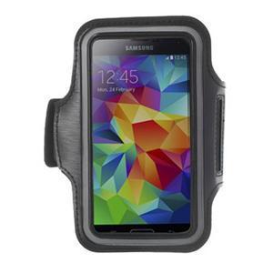 Fitsport puzdro na ruku pre mobil do veľkosti až 145 x 73 mm - čierne - 1