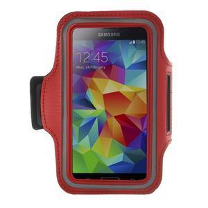 Fitsport puzdro na ruku pre mobil do veľkosti až 145 x 73 mm -  červené - 1