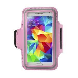 Fitsport puzdro na ruku pre mobil do veľkosti až 145 x 73 mm - ružové - 1