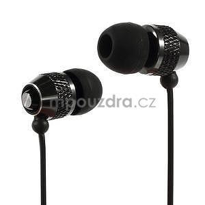 Špuntová sluchátka do mobilu, čierná - 1