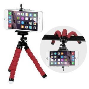 Trojnožkový stativ pre mobilné telefony - červený - 1