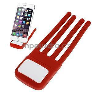 Tvarovatelný stojánek na mobil, červený - 1