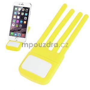Tvarovatelný stojánek na mobil, žltý - 1