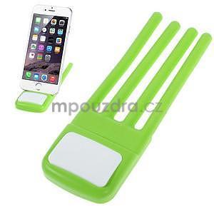 Tvarovatelný stojánek na mobil, zelený - 1