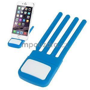 Tvarovatelný stojánek na mobil, modrý - 1