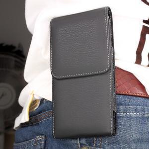 Kapsička na mobil na opasek pro telefony do rozměru 152 × 74 mm - černá - 1