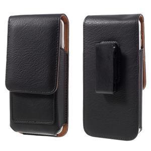 Puzdro pre opasek pre telefony do rozmerov 160 x 84 x 18 mm - čierne - 1