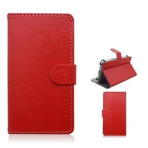 Univerzální peněženkové pouzdro do 159 x 79 mm - červené - 1