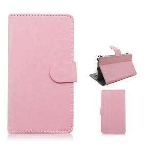 Univerzálne peňaženkové puzdro do 159 x 79 mm - ružové - 1