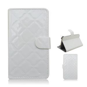 Luxury univerzálne puzdro pre mobil do 148 x 76 x 21 mm - biele - 1