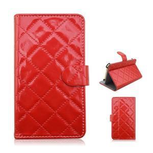 Luxury univerzálne puzdro pre mobil do 148 x 76 x 21 mm - červené - 1