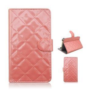 Luxury univerzální pouzdro na mobil do 148 x 76 x 21 mm - růžové - 1