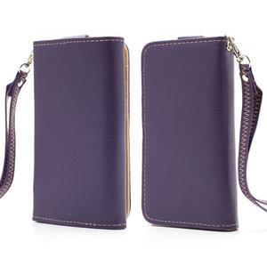 Softy univerzálne puzdro pre mobil do 137 × 71 × 8,6 mm - fialové - 1