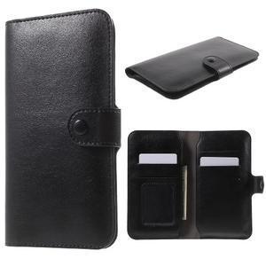 Peňaženkové univerzálne puzdro pre mobil do 140 x 68 x 10 mm - čierne - 1
