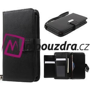 Luxusné univerzálne puzdro pre telefony do 140 x 70 x 12 mm - čierne - 1