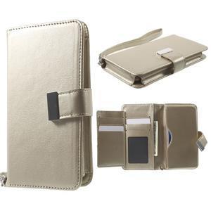 Luxusné univerzálne puzdro pre telefony do 140 x 70 x 12 mm - zlaté - 1