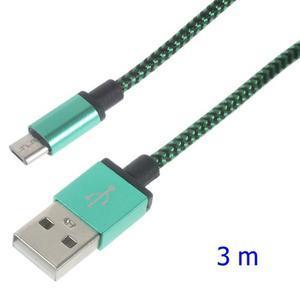 DataS Micro USB kabel nabíjaci/prepojovací - zelenomodrý - 1
