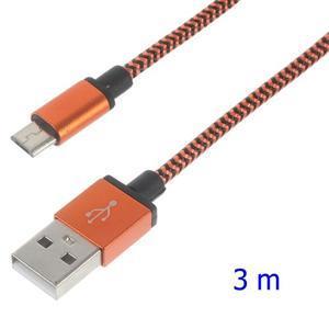 DataS Micro USB kabel nabíjecí/propojovací - oranžový - 1