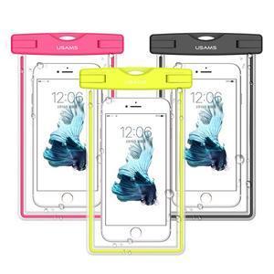 Fluorescent IPX8 vodeodolný obal pre mobil do 158 x 78 mm - rose - 1