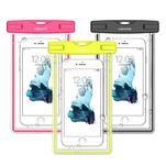 Fluorescent IPX8 voděodolný obal na mobil do 158 x 78 mm - rose - 1/4