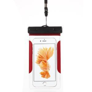 Nox7 vodotesný obal pre mobil do rozmerov 16.5 x 9.5 cm - červený - 1