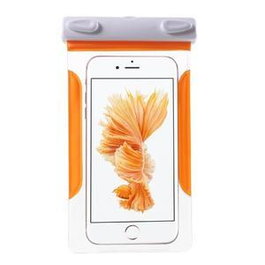 Nox7 vodotěsný obal na mobil do rozměru 16.5 x 9.5 cm - oranžový - 1