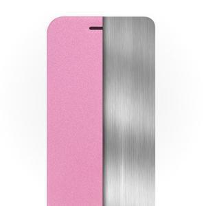 Klopové pouzdro s kovovou výstuhou na Lenovo K5 Note - růžové - 2