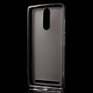 Matný gélový obal pre mobil Lenovo K5 Note - šedý - 2